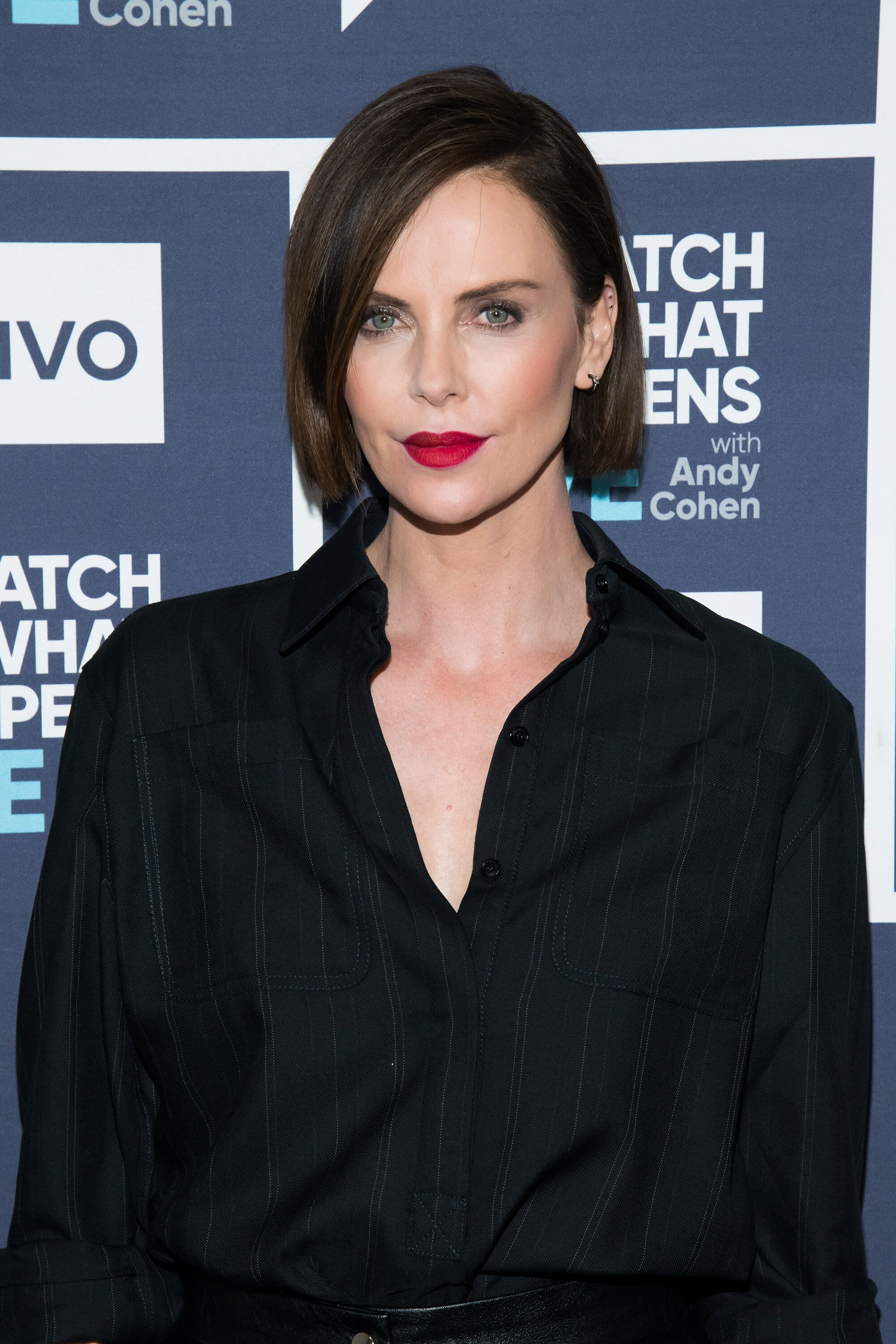 WATCH WHAT HAPPENS LIVE WITH ANDY COHEN -- Pictured: Charlize Theron -- (Photo by: Charles Sykes/Bravo/NBCU Photo Bank via Getty Images)