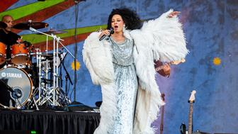 Diana Ross performs at the New Orleans Jazz and Heritage Festival on Saturday, May 4, 2019, in New Orleans. (Photo by Amy Harris/Invision/AP)