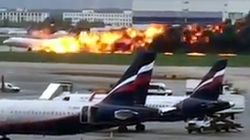 Plane Lands In Moscow Engulfed In Flames, Killing At Least 41