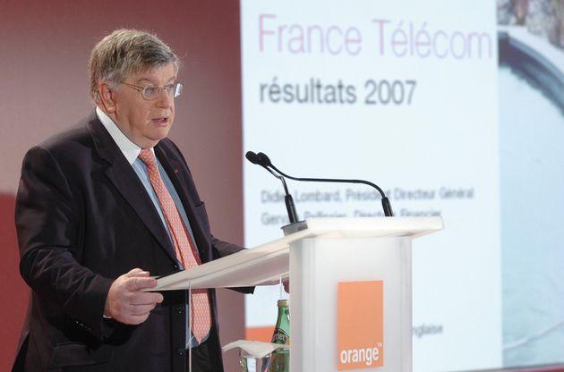Didier Lombard, directeur général de France Télécom, lors de la présentation...