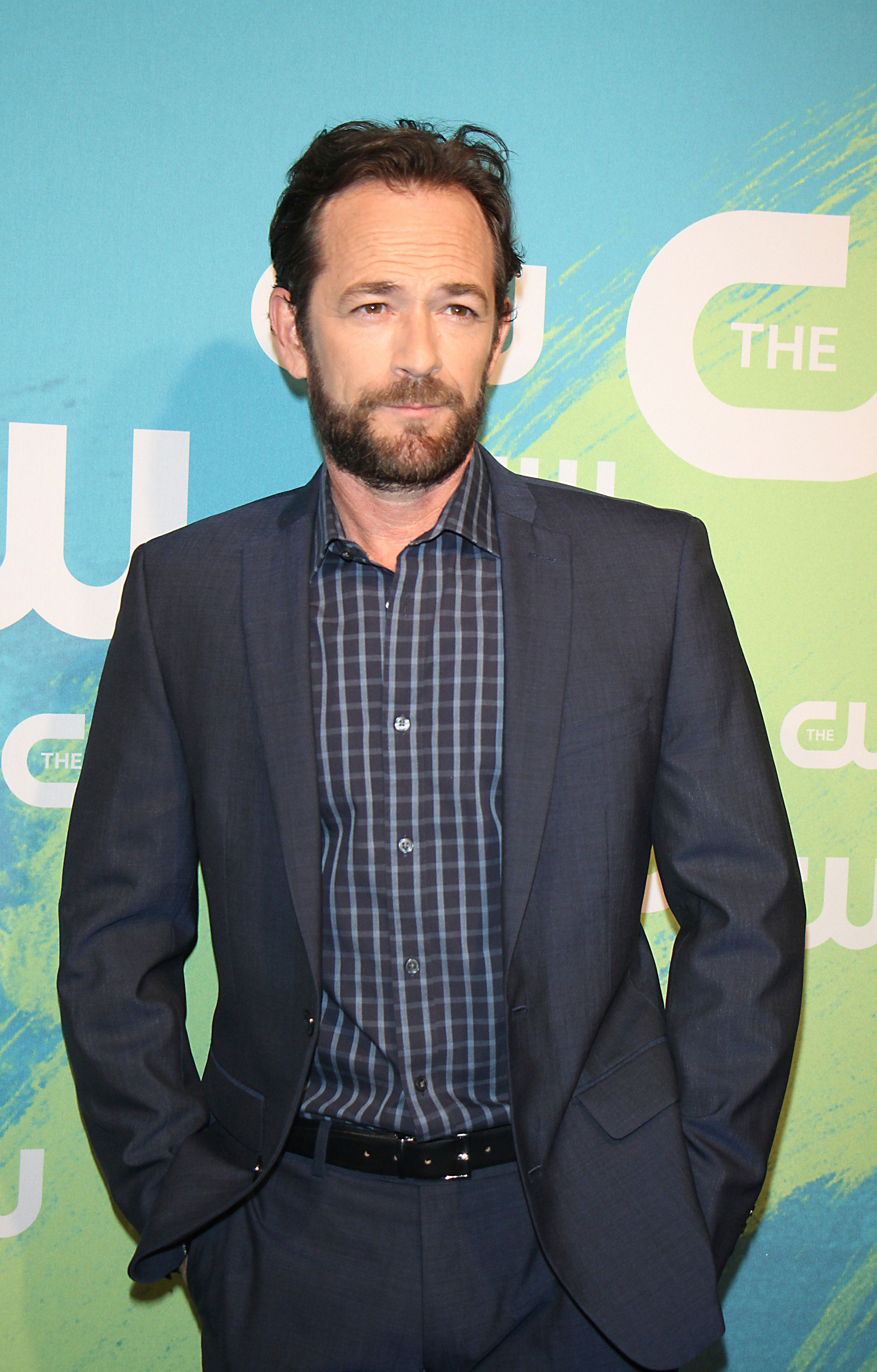 ***FILE PHOTO*** LUKE PERRY DEAD AT 52 NEW YORK, NY-May 19: Luke Perry at The CW Network's 2016 Upfront at the London Hotel in New York. NY May 19, 2016. Credit:RW/MediaPunch /IPX
