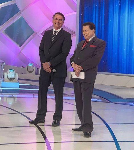 Jair Bolsonaro participa do programa Silvio Santos neste domingo