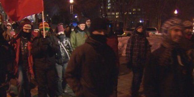 Manifestation étudiante à Québec: quatre