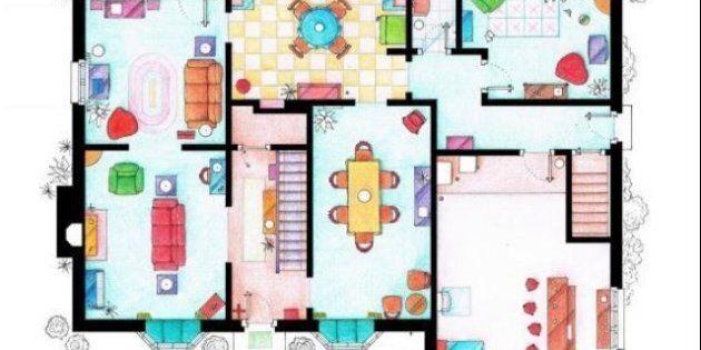 Les plans des appartements de vos séries préférées dévoilés