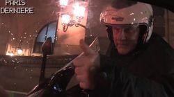 En scooter, Depardieu dit bonjour à une actrice