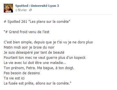 «Spotted» ou Facebook? Le courrier du cœur des étudiants