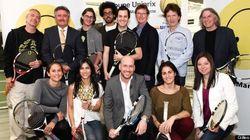 Coupe Uniprix - Fondation Martin-Matte: jouer au tennis avec des artistes