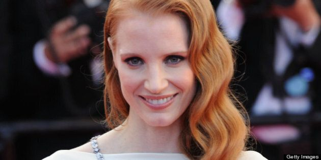 CANNES, FRANCE - MAY 21: Actress Jessica Chastain attends the 'Cleopatra' premiere during The 66th Annual...