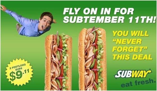 Une fausse pub Subway sur le 11 Septembre fait parler d'elle aux Etats-Unis