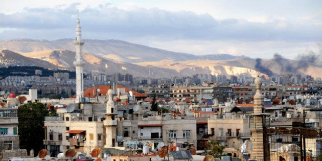 Rooftops in Damascus,