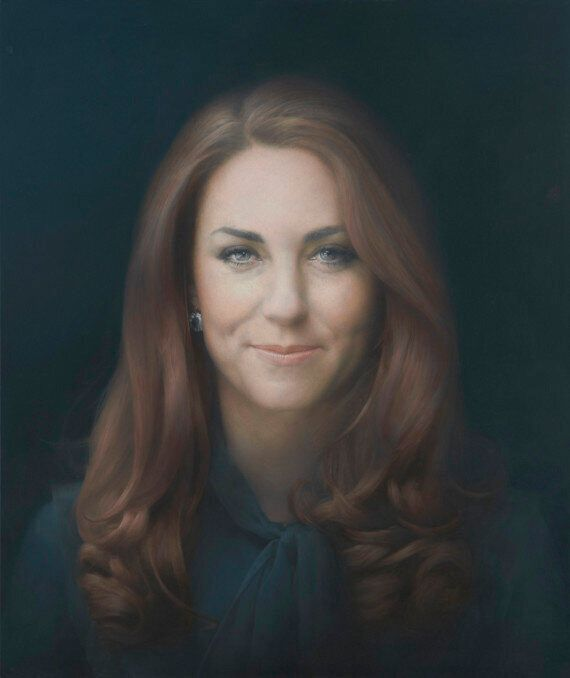 Le premier portrait officiel de Kate Middleton dévoilé à Londres à la National Portrait Gallery