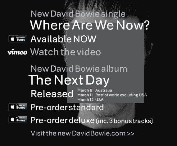 David Bowie annonce son retour sur Internet et lance une nouvelle chanson le jour de son 66e anniversaire