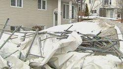 Méchants dégâts à Québec