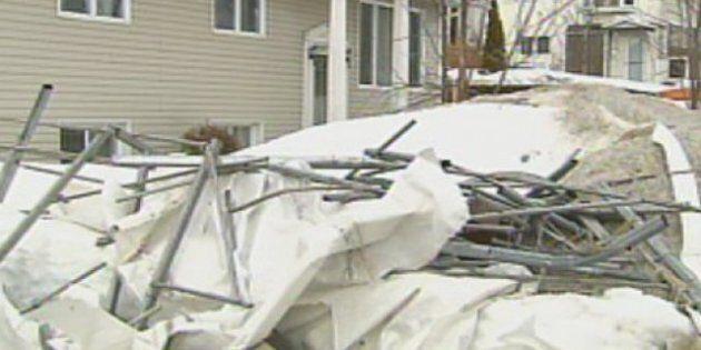 Les vents violents causent des dégâts à Québec