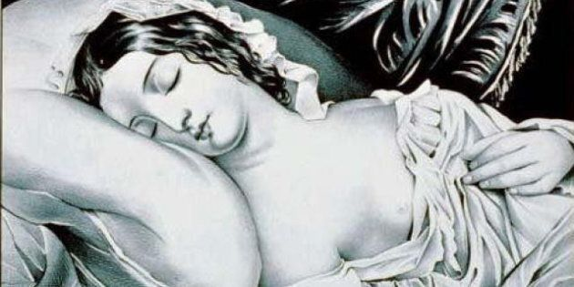 fr:Fichier:Sommeil.jpg , fr:User:Hopea , 2004 | 08 | 10 Category:Sleeping women Category:Lithographs.