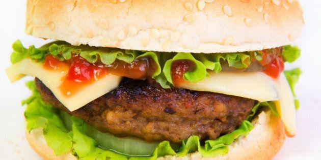 hamburger popular fast food...