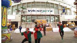 Un Flash Mob du temps des fêtes par WestJet airlines