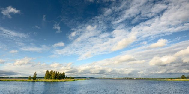 lake landscape in