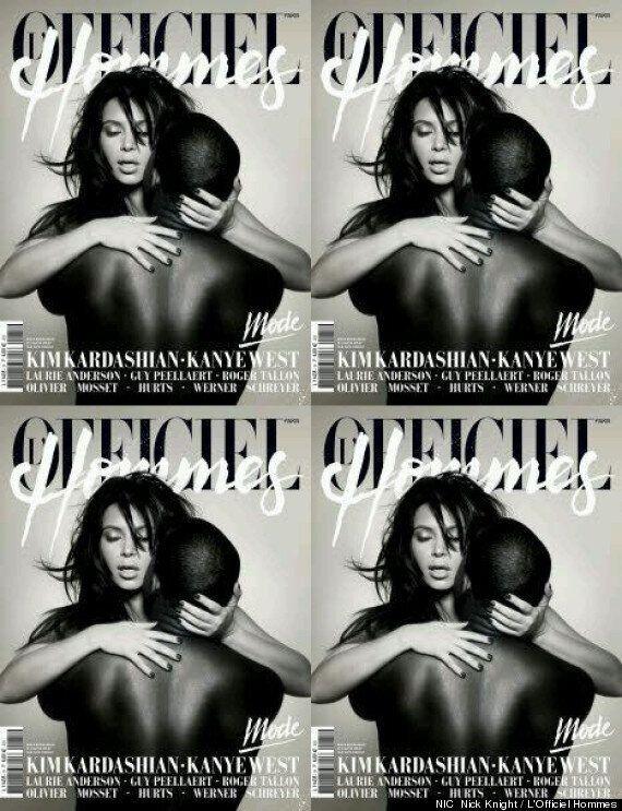 Kim Kardashian et Kanye West posent nus pour la couverture de L'Officiel Hommes
