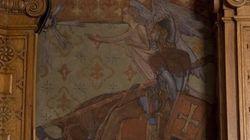 Une murale restaurée dans le bureau de Thomas Mulcair cause la
