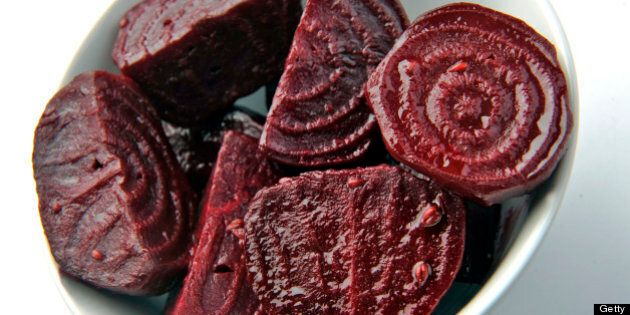 WASHINGTON DC - JANUARY 13: Roasted beets with anise, Cinnamon and orange juice. (Photo by Bill O'Leary/The...