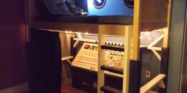 PHOTOS. Un utilisateur de Reddit construit un lit-vaisseau spatial pour l'anniversaire de son
