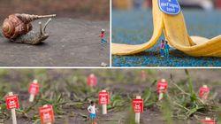 De l'art urbain miniature en hommage aux enfants de la