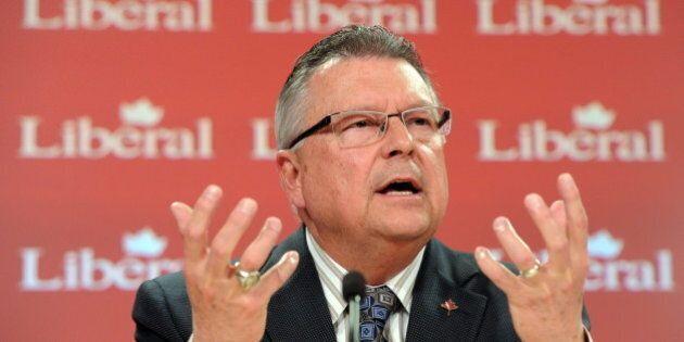 L'ancien ministre Ralph Goodale appuie la candidature de Justin