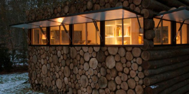 La cabane en troncs: le nouveau pavillon de jardin à la mode aux Pays-Bas