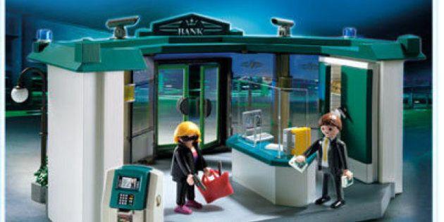 Playmobil : une boîte de jeu représentant un vol de banque soulève la