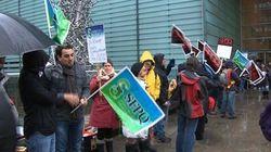 Les employés de la BAnQ en grève d'une