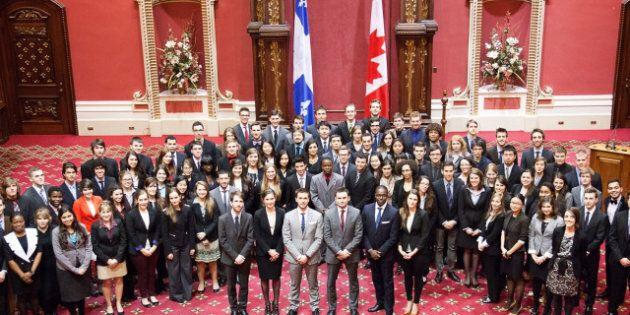 Parlement jeunesse du Québec: célébrer les Fêtes à l'Assemblée