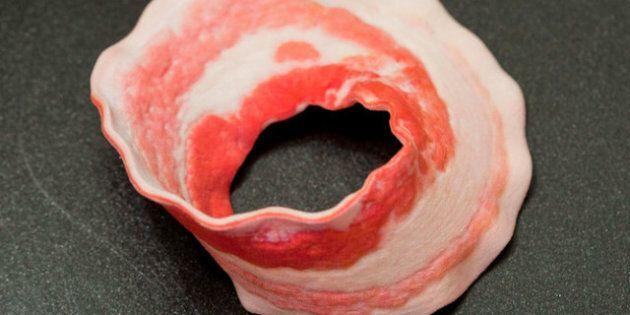 Moebius: un de ses rubans en bacon grâce à l'impression 3D de Shapeways 3D