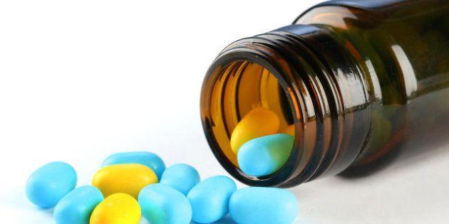 capsules in bottle