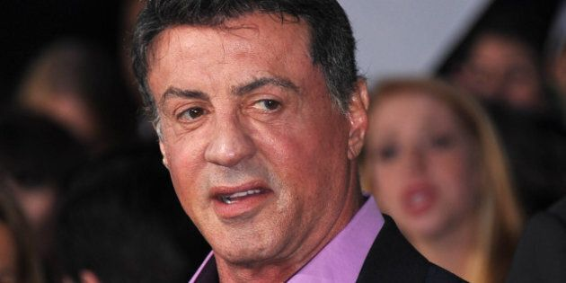 Sylvester Stallone arrives at the premiere of Lionsgate's 'The Hunger Games' at Nokia Theatre L.A. Live...