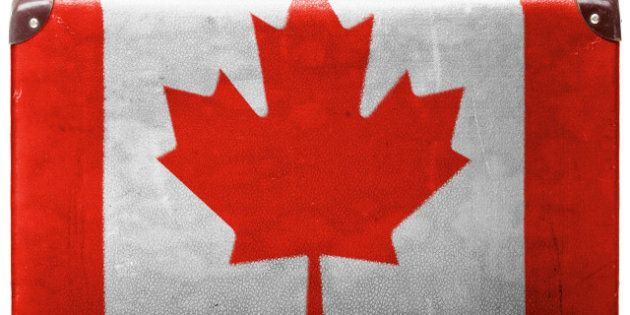 the canadian flag painted on