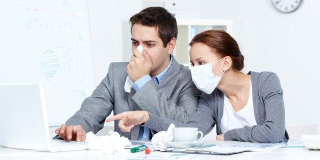 image of sick businessman