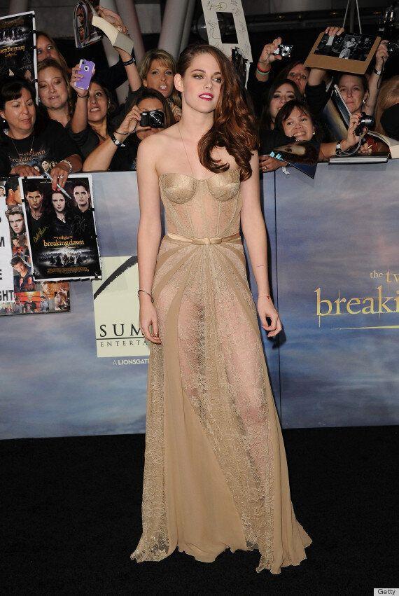 Kristen Stewart foule le tapis rouge de «Twilight: Breaking Dawn, Part 2» en robe «peau», sexy et transparente