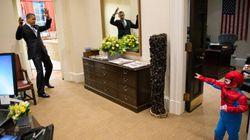 Quand Obama jouait à Spider-Man dans le Bureau