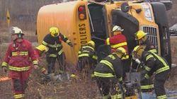Accident d'autobus à Beauceville: 7 blessés