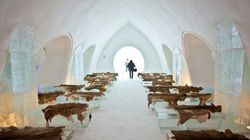 Inauguration de l'Hôtel de glace à Québec