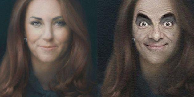 Détournements: le portrait officiel de Kate Middleton parodié par les internautes
