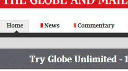 Le site du «Globe and Mail» devient