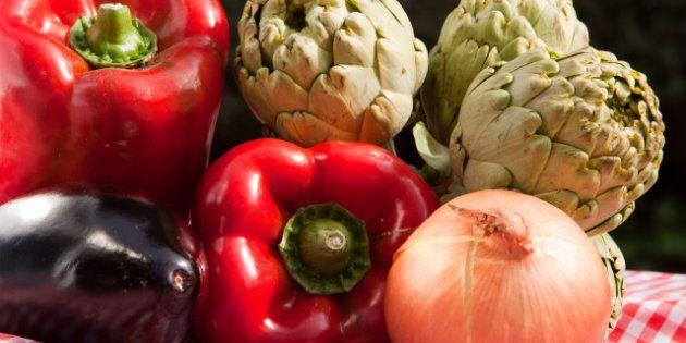 horizontal fresh vegetables and