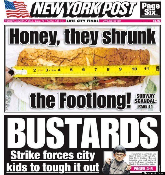 Subway: le sandwich trop court fait scandale sur