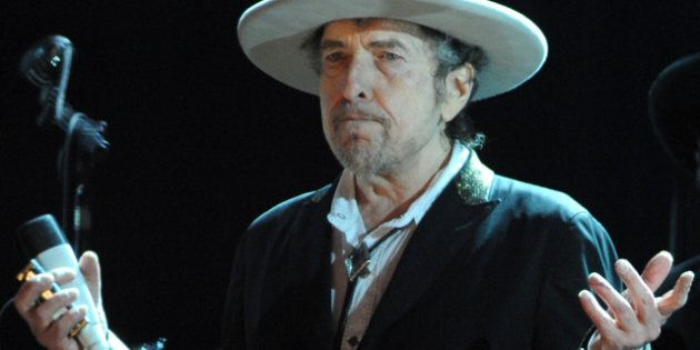 US legend Bob Dylan performs on stage during the 21st edition of the Vieilles Charrues music festival...