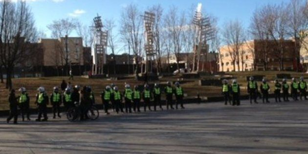 Divulgation d'itinéraire: arrestations à la manifestation de