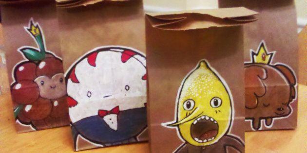 «Lunch Bags Art» ou des boîtes à lunch artistiques: ils dessinent sur leurs sacs-repas