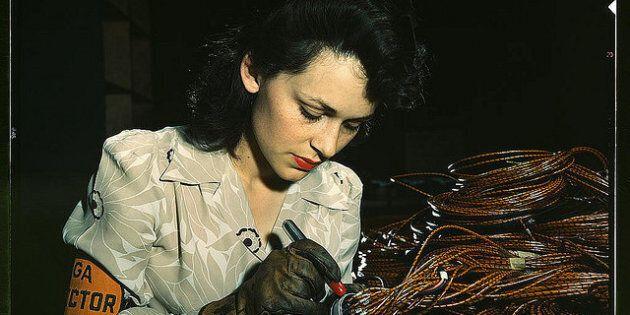 Des photos saisissantes en couleur des États-Unis lors de la Deuxième Guerre