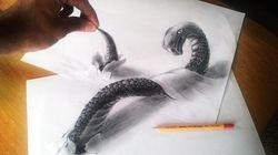 Les impressionnants dessins en 3D de Ramon Bruin